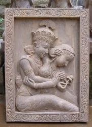 Radha Krishna Wall Sculpture