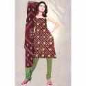 Ladies Printed Casual Cotton Suit