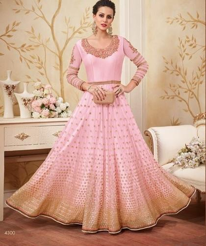 Multi Party And Wedding Wear Raw Silk Pakistani Suits Rs 3295