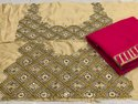 PLAIN GEORGETTE EMBROIDERY Saree