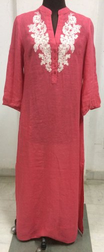 Embroidery Straight Kurti