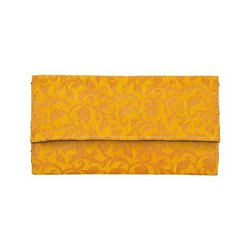 Azzra Yellow Wallet Clutch