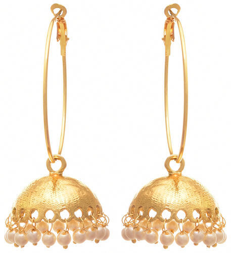 ed9ed3ca7f Gold Jfl- One Gram Plated Pearls Bali Jhumka, Rs 469 /pair | ID ...