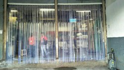 Transparent Vertical Industrial Blinds, For Industries