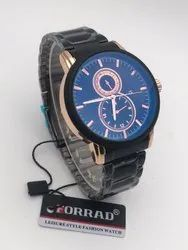 Forrad Black Analog with Date Mens Watches