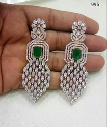 Vardhaman Goodwill Golden wholesale Artificial Diamond Earrings