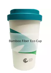 Living Leaf Printed Bamboo Fiber Eco Cup for Home