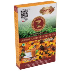 Brown Zingysip Delicious Butterscotch Tea ( 100 gm.) with Vitamin A&D, Packaging Type: Box