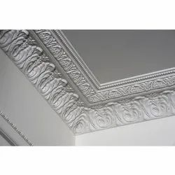 White Gypsum Ceiling Panel, for Restaurant, Thickness: 0.5 mm
