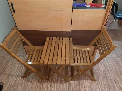 Wooden Folding Table And Chair