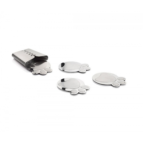 NEW Artdionx Stainless steel Coaster CD set of 6