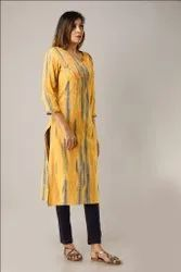 Rayon Hand Embroidered Long Kurtis