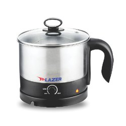 600 Watt 1.2 Ltr Lazer Stainless Steel Electric Kettle