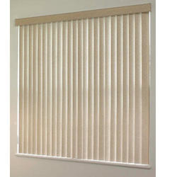 White Fibre Mixed Polyster PVC Vertical Blind