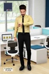 Yellow Uniform Unstitched Shirts And Pant for Corporate Workforce