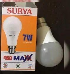 Aluminum Round Surya 7 Watt Led Bulb