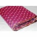 Vintage Super Fine Kantha Quilt Indian Handmade Cotton Blanket