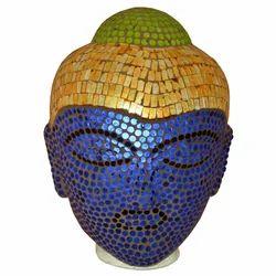 Glass Lamp With Buddha Shape