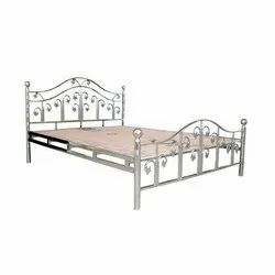 Stainless Steel Silver SS Designer Double Bed, Size: 6 X 6 Feet