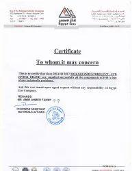 CUSTOMER SATISFACTION CERTIFICATE FROM EGYPT GAS