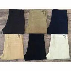 Plain Men's Casual Trouser