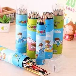 Multicolor 18Pcs Color Pencils With Container, For Drawing Pencil