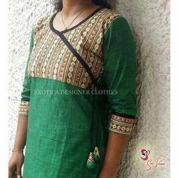 Cotton Formal Wear Ladies Kalamkari Suit