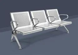 Ss 3 seater wating chair