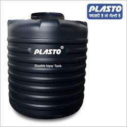 Water Storage Tank - PLASTO Vertical Cylindrical Black Water