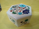Pietra Dura Marble Inlay Jewellery Box