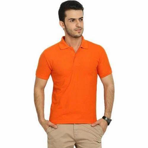 7fe8de84 Mens Orange Plain T Shirt