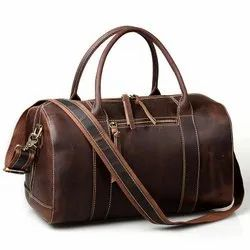 Brown Leather Travel Bag for Laptops
