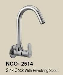 nCashyap Chrome GEO SINK COCK, For Kitchen, Size: 15mm