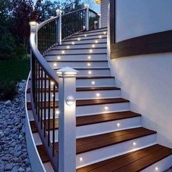 Gray Designer Wooden Round Staircase