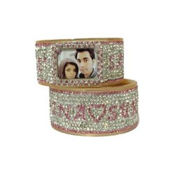 Couple Name Bangles with Photo