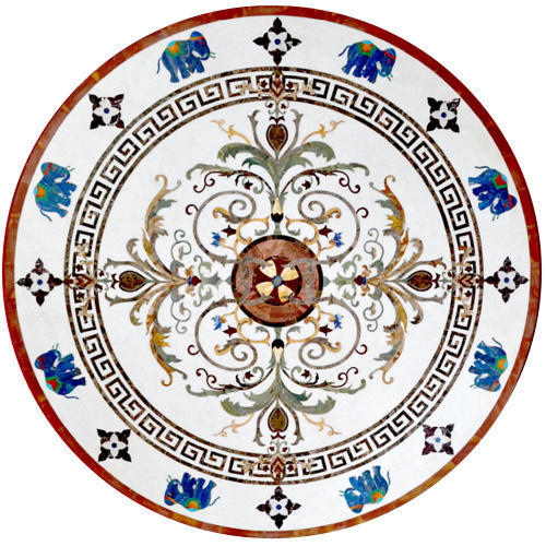 Finest Dining Marble Inlay Table Top at Rs 112500 /piece | Marble Inlay  GX05