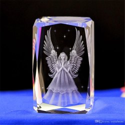 Transparent 3D Crystals Laser Engraving Gift
