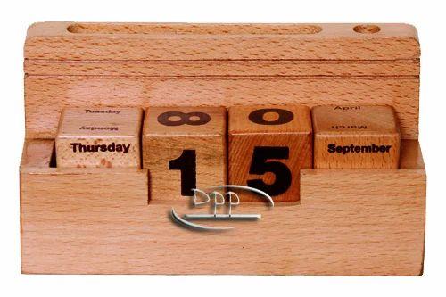 Wooden Desk Calendar Size Dimension 3 05 Inch X 2 25 Inch X 6 Inch