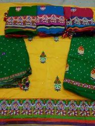 Bandhej Salwar Material And Dupatta