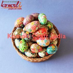 Wooden Or Paper Mache Egg Hand Painted Easter Decorative Wooden Eggs
