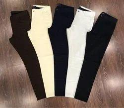 Slim Fit Cotton Trousers for Men