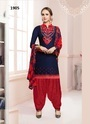 Cotton Satin Embroidered Punjabi Salwar Kameez