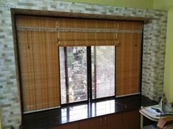 Natural Bamboo Brown Vertical Blinds