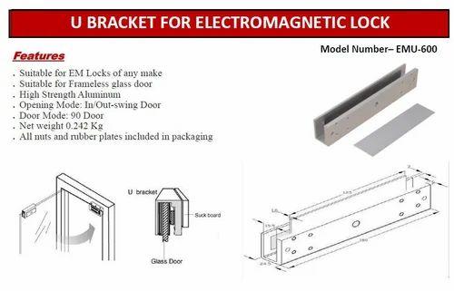 U bracket for electromagnetic lock xyloid technologies jaipur u bracket for electromagnetic lock planetlyrics Image collections