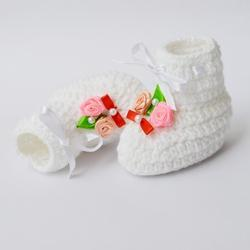 11356c6aa906c Crochet Baby Booties Handmade - White