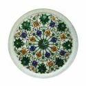 Marble Inlay Decorative Plate Handmade