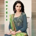 Party Wear Owalpnarg Alpha Textile Nargis Banarsi Silk Dress Material