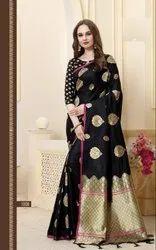 Banarasi Silk Weaving Saree With Blouse Piece