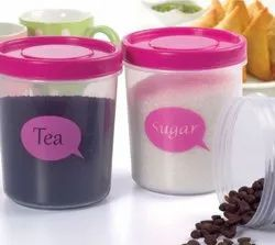 Dynasty Clear Tea Coffee Sugar Box, For Storage, Size: 1000 Ml