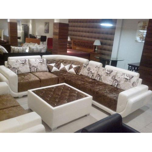 Cane Sofa Set Price In Delhi: 6 Seater L Shape Sofa Set At Rs 20000 /set